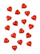 20 mini cuori rossi brillanti