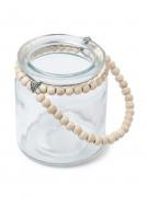 Portacandele di vetro con perline