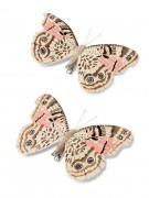 2 farfalle su molletta rosa e tortora