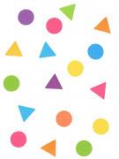 Coriandoli multicolori forme geometriche