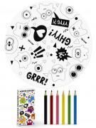 6 disegni da colorare e 6 matite mostri