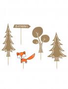 5 decorazioni per torta tema foresta