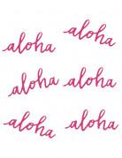 6 decorazioni da tavola Aloha 12.5 cm