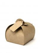 10 scatole in cartone con etichette