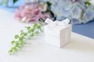 10 scatoline bianche con nastrino