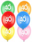 12 palloncini colorati numero 40