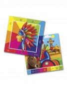 20 tovaglioli di carta indiani multicolor