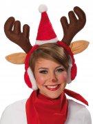 Cerchietto natalizio con renna per adulto