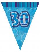 Ghirlanda con bandierine blu 30 anni