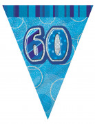 Ghirlanda con bandierine blu 60 anni