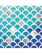 16 tovagliolini di carta motivo sirena