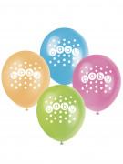 8 palloncini in lattice Baby Shower pastello