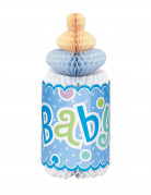 Biberon celeste in carta alveolata Baby Shower