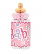 Biberon rosa in carta alveolata Baby Shower
