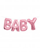 Ghirlanda di palloncini alluminio Baby rosa