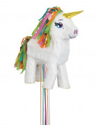 Pignatta in cartone unicorno bianco