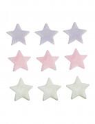 9 decorazioni per torte stelle di zucchero colorate