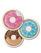 8 piattini in cartone Donuts 18 cm