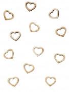 25 coriandoli da tavola cuori di legno