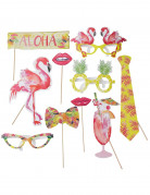 Kit photobooth 10 accessori tropicali