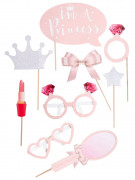 Kit photobooth 9 accessori principessa
