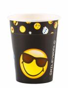 8 bicchieri in cartone Smiley emoticons™