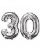 2 palloncini in alluminio argento 30 anni