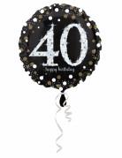 Palloncino alluminio Happy Birthday scintillante 40 anni
