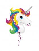 Palloncino alluminio gigante unicorno arcobaleno