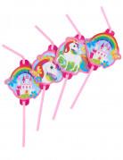 8 cannucce unicorno arcobaleno