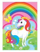 8 sacchetti di plastica unicorno arcobaleno