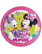 8 piattini di cartone Minnie Happy™ 19 cm