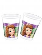 8 bicchieri di plastica Sofia la principessa e l'unicorno™