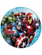 8 piatti in cartone Avengers Mighty™ 23 cm