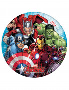 8 piattini di cartone Avengers Mighty™ 20 cm