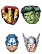 6 maschere di cartone Avengers Mighty™