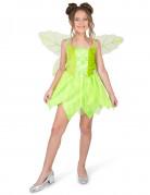 Costume da fatina verde del bosco bambina
