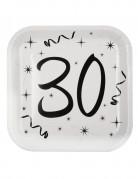 10 piatti quadrati in cartone 30 anni 23 cm