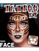 Tatuaggio temporaneo tigre per il viso per adulto