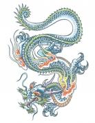 Tatuaggio temporaneo dragone per adulti