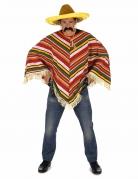 Poncho messicano colorato per adulti