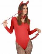 Kit rosso da diavolo con paillettes per adulto