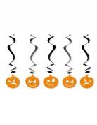 5 decorazioni da sospendere zucca di Halloween