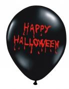 6 Palloncini per Halloween neri con scritta