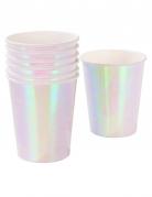 12 bicchieri in cartone iridescenti