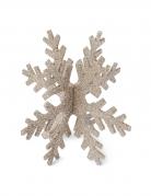 Fiocco di neve in polistirolo con brillantini rame