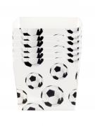 6 coppette aperitivo in cartone tema calcio