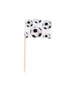 24 bandierine con stecchino tema calcio