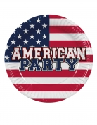 6 piatti in cartone American Party 25 cm