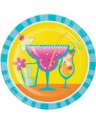 8 piattini in cartone cocktail 18 cm